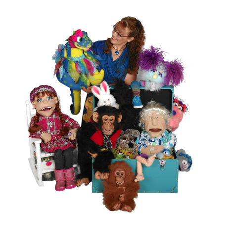 Lisa Laird and her puppets